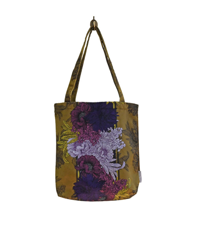 Velvet tote bag made in UK